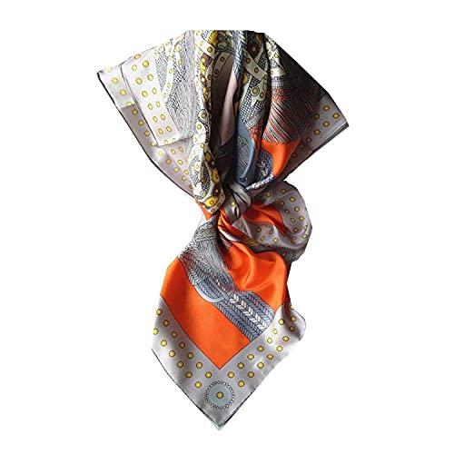 WSYGHP Sillón Naranja shill 90x90cm 100% de Seda Bufanda de Seda