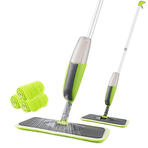 Anirudha Microfiber Magic Spray Mop with Reusable Microfiber Pads & Bottle Suitable for Hardwood Marble Tile Floor Cleaning