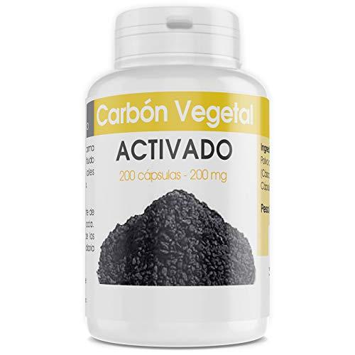 Carbón Vegetal Activado - 200 mg - 200 cápsulas