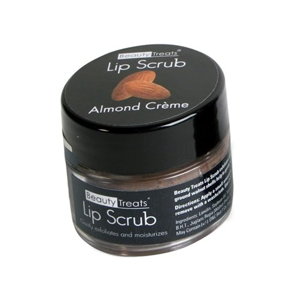 作る意味のある牛(3 Pack) BEAUTY TREATS Lip Scrub - Almond Creme (並行輸入品)