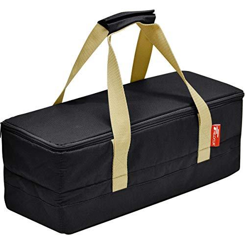 FIELDOOR マルチツールボックス 【Sサイズ/ブラック】 ペグケース 40cmペグも収納可能 仕切り付 折りたたみ 道具入れ 小物入れ キャンプ用品 ツールバッグ