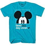 Disney Mickey Mouse Best Day Ever Toddler Youth Juvy Kids T-Shirt (4, Turquoise)