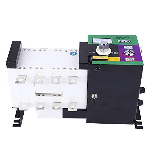 Astibym Interruptor de Cambio Inteligente de Tipo de Aislamiento Interruptor de Transferencia automática de Doble Potencia 160A 4P para Lugares de Suministro de energía eléctricos