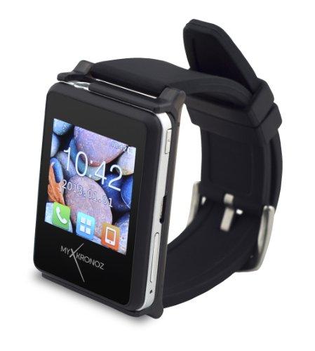 MyKronoz zenano-Black ZeNano Smartwatch für iOS und Android OS schwarz