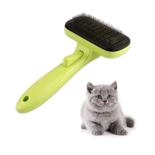 Yourder Pet Grooming Brush Self Cleaning Slicker Brushes - Best Shedding Grooming Tools for Dogs,...