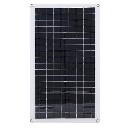 Cargador solar USB de alta transmisión de luz, ligero, resistente al desgaste y con esquinas seguras
