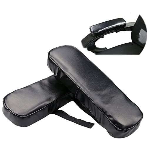 Almohadillas para reposabrazos de silla, cojín cómodo para silla de oficina, reposabrazos con espuma viscoelástica, cojines ergonómicos para codo para silla de escritorio de oficina (juego de 2)