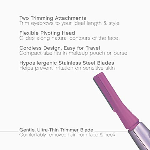 Panasonic Facial Hair Trimmer for Women ES2113PC, with Pivoting Head and Eyebrow...
