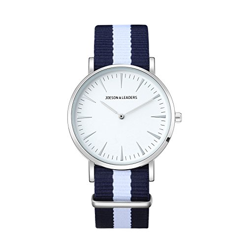 JOESON LEADERS Damen Uhr Analog Quarz mit Nylon Armband