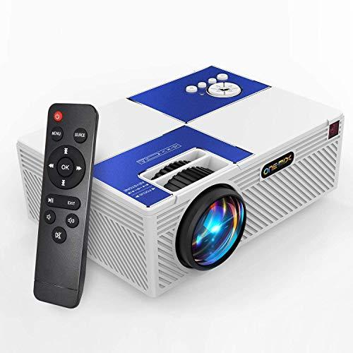 Mini proyector de vídeo | Compatible con HDMI AV USB Micro SD TV Stick (blanco) 1080P HD y 170 pulgadas HD de lujo | Proyector de película portátil compatible con HDMI AV USB Micro SD TV