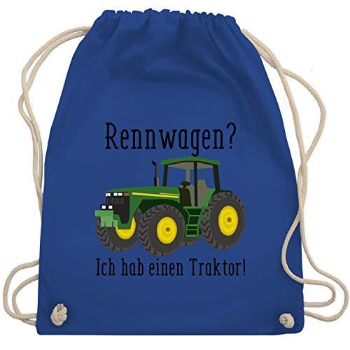 Shirtracer Landwirt - Rennwagen? Traktor! - Unisize - Royalblau - turnbeutel traktor - WM110 - Turnbeutel und Stoffbeutel aus Baumwolle