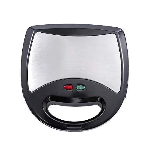 Fabricantes de gofres eléctricos, máquina de hierro de waffle 750W, revestimiento antiadherente, 3 en 1 Máquina de desayunos multifuncional, negro, 24x18x8cm BJY969