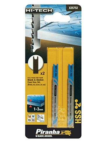 Stanley Black & Decker 8014211466151 Piranha X25752-2 cuchillas de metal Hi-Tech T/Fine, multicolor