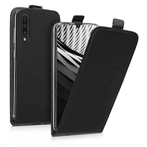 kwmobile Schutzhülle kompatibel mit Samsung Galaxy A50 - Hülle Handy - Flip Hülle Handyhülle Schwarz