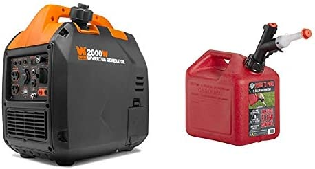 WEN 56203i Super Quiet 2000 Watt Portable Inverter Generator w Fuel Shut Off CARB Compliant product image