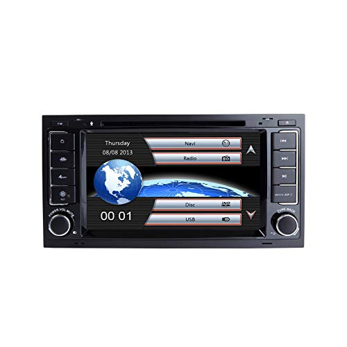 Autoradio, ZLTOOPAI per VW Volkswagen TOUAREG T5 Transporter Doppia testa din Unità GPS auto-in-dash con strumenti gratuiti per la rimozione di mappe