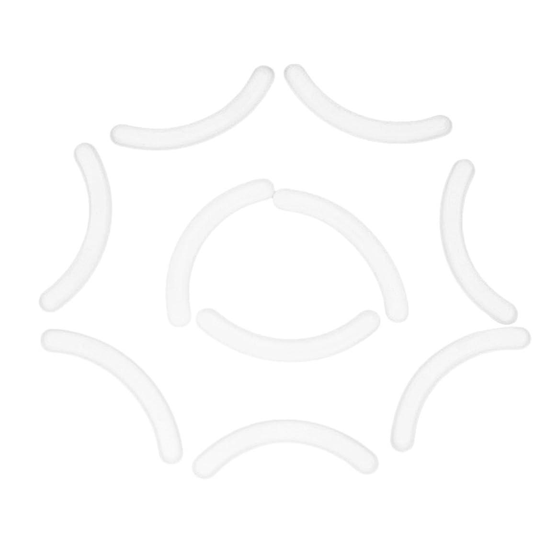 靴下謎めいたスキッパーFalseアイラッシュエクステンションショーディスプレイスタンドホルダーのための10のシリコーンストリップのセット - 白