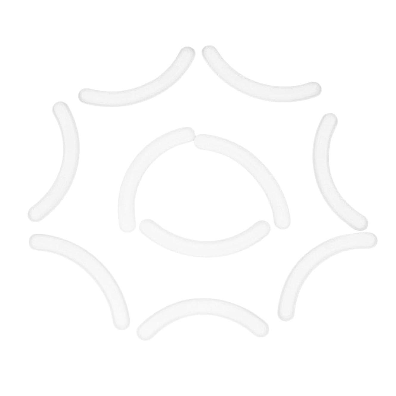 間に合わせアンタゴニスト代わりに10個セット まつげ拡張用 付けまつ毛 アイラッシュ エクステンション シリコンストリップ スタンドホルダー用 全4色 - 白