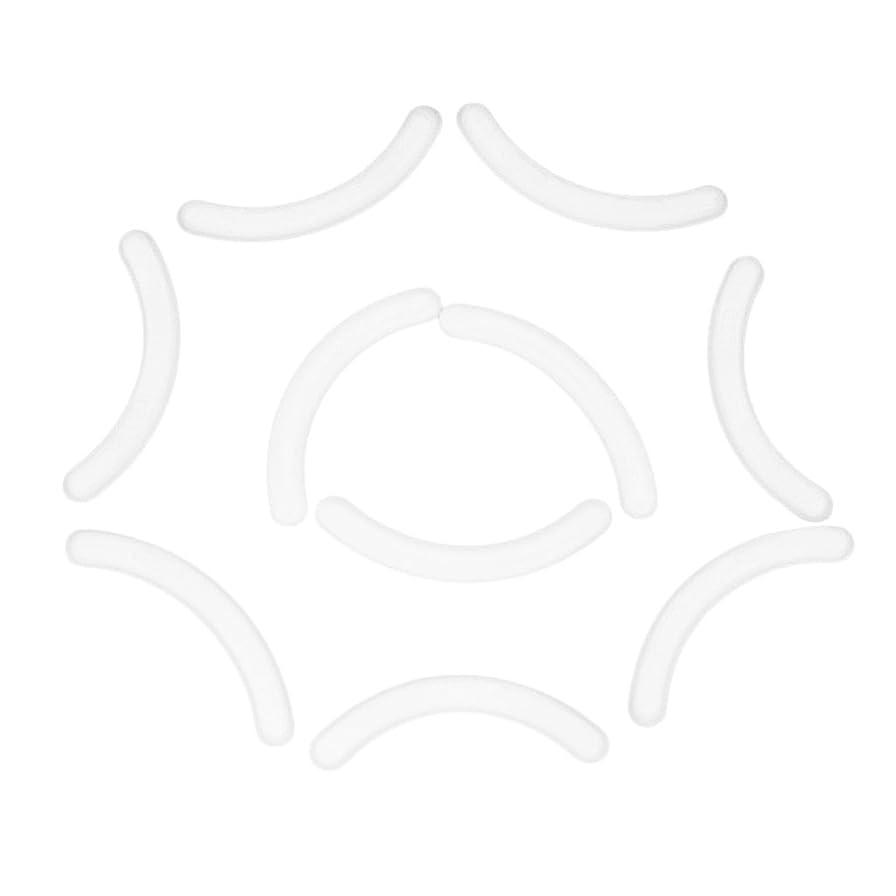 測るドナウ川確立しますFenteer 10個セット まつげ拡張用 付けまつ毛 アイラッシュ エクステンション シリコンストリップ スタンドホルダー用 全4色 - 白