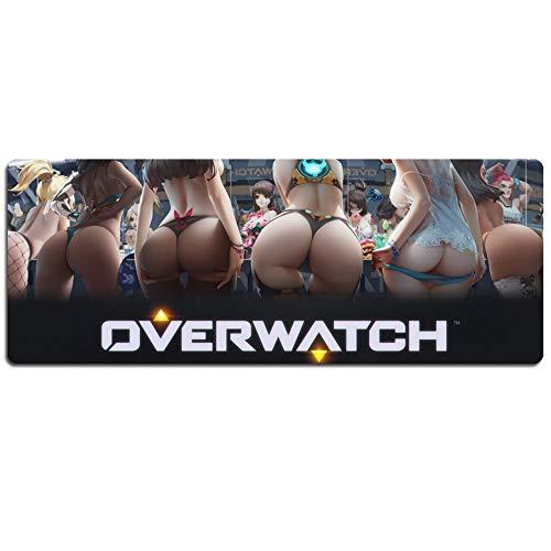 IGZNB Overwatch XXL Speed Gaming Mauspad | 900 X 400Mm | XXL Mousepad | Tischunterlage Large Size | Perfekte Präzision Und Geschwindigkeit,Dmauspad
