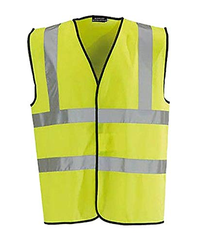 REAL LIFE FASHION LTD Adult Hi Vis Viz Safety Vest Top Heren Hoge Zichtbaarheid Reflecterende Tape Waistcoat