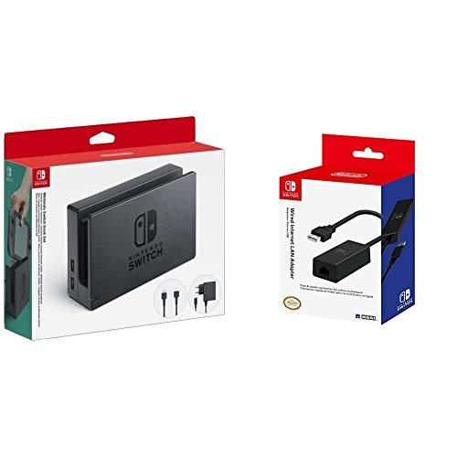 Ensemble station d'accueil Nintendo Switch & Adaptateur LAN pour Nintendo Switch