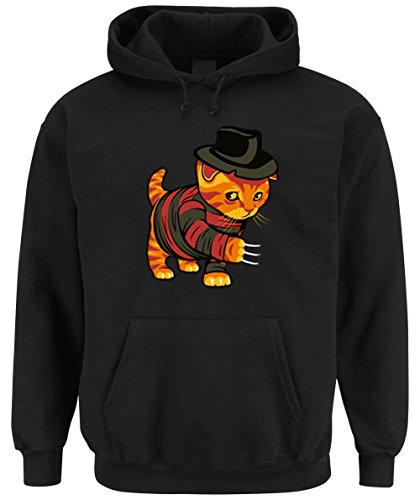 Evil Cat Hooded-Sweater Black Certified Freak-XXL