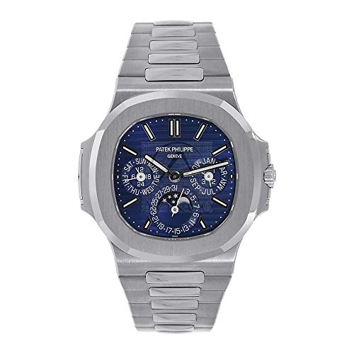 Patek Philippe Nautilus 40MM Perpetual Calendar White Gold Men's Watch 5740/1G-001