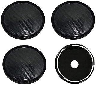 xnbnsj 4 Stück Auto Radzierblenden Radkappen Radkappen Radnabenkappen aus Karbonfaser