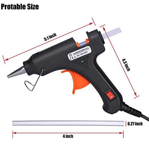 "Hot Glue Gun, Upgraded 20W High Temp Mini Hot Melt Glue Gun Kit with 50pcs Glue Sticks(4.0'' x 0.27"") for DIY Projects, Arts and Crafts, Home Quick Repairs & Sealing, Artistic Creation, Black"