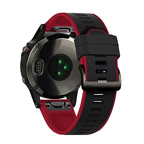 Gransho Correa de Reloj Recambios Correa Relojes Caucho Compatible con Garmin Forerunner 935 / Forerunner 945 / Forerunner 745 - Silicona Correa Reloj con Hebilla (Pattern 12)