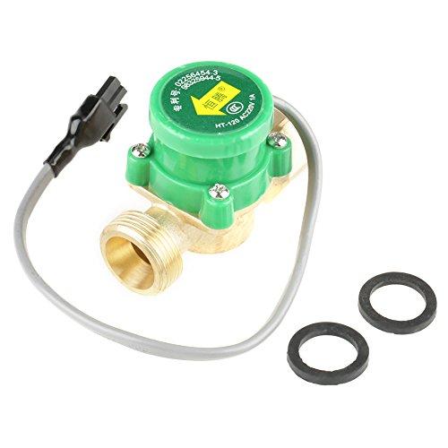 """1 PCS HT-120 AC220V 1A G3 / 4""""-3/4"""" Rosca Interruptor del sensor de flujo de la bomba de agua para ducha Calentador de agua de flujo"""