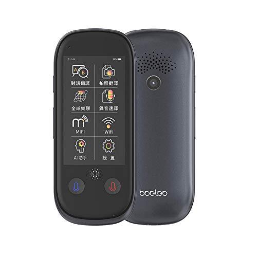 XYSQWZ Translator Device No WiFi, Translator Device, Smart Language Voice 3.0 Inch Touch Screen 76 Languages WiFi Pocket Electronic Translators Learning Traveling Shopping Black