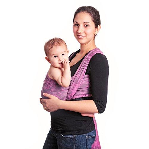 HOPPEDIZ Baby-Tragetuch, inklusive Bindeanleitung, Chicago pink 5,40 m
