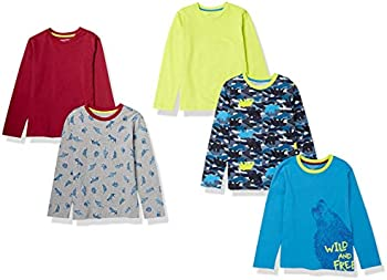 5-Pack Amazon Essentials Kids' Long-Sleeve T-Shirts