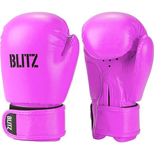 Blitz Unisex, Jugendliche Kids Omega Boxhandschuhe, neon pink, Einheitsgröße