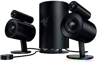 Razer Nommo Pro: THX Certified Premium Audio - Dolby Virtual Surround Sound - LED Illuminated Control Pod - Downward Firing Subwoofer - Powered by Razer Chroma - PC Gaming Speakers