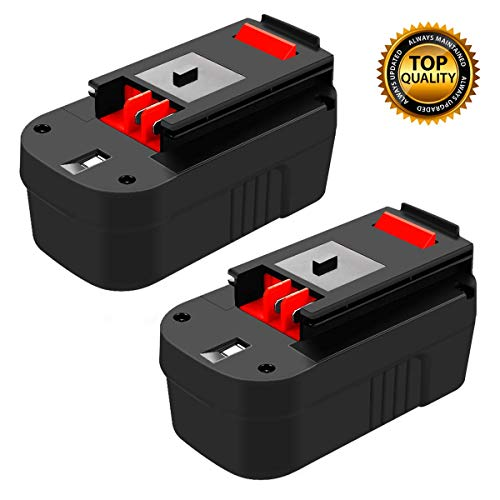 2 Pack HPB18 Battery Replacement for Black and Decker 18 Volt Battery Firestorm HPB18-OPE FSB18 FS18FL FS180BX A1718 244760-00 FS18BX FS18FL Cordless Power Tools