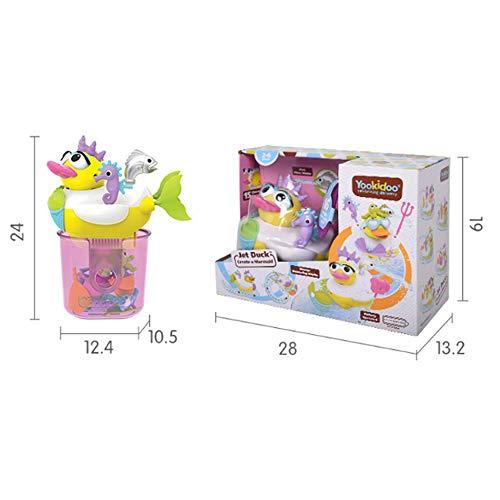 TKFY Baby-Dusche Spielzeug Cartoon Bade Tub Springbrunnen Spielzeug kreative Elektro Infant Swimming Pool Wasser-Flitter für Kinder Jungen-Mädchen-Geschenke,Mermaids