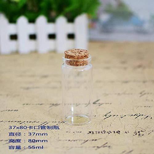 Suikerkommen met deksels Glazen Fles Gopeng Silicium Controle Fles Transparant Hi Snoep Fles Bloem Thee Wensfles 37x80