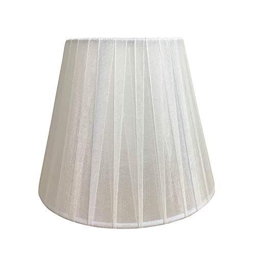 ONLI Confezione 6 paralumi in Tessuto fasciato Bianco Semitrasparente, Diametro 15cm,E14