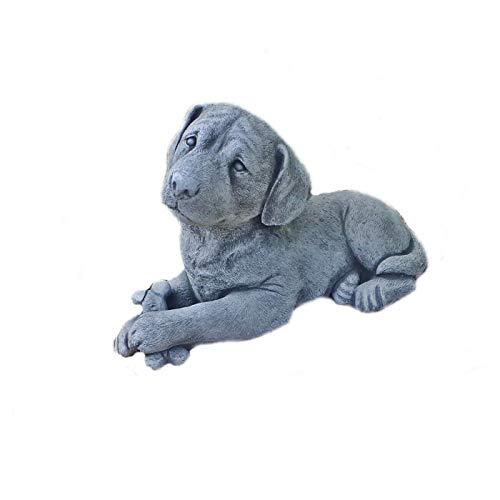 Steinfigur Hund Labrador Tierfigur Steinguss Gartenfigur Frostfrei 41