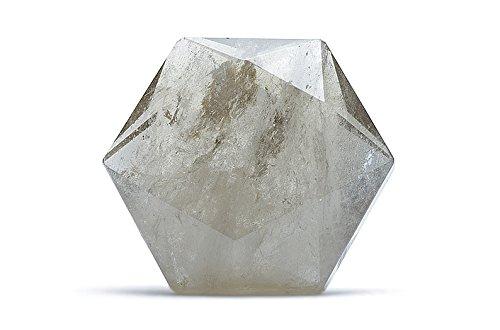 Cuarzo ahumado (o enfumé) marrón mineral piedra natural Cristaloterapia.–sello de Salomón