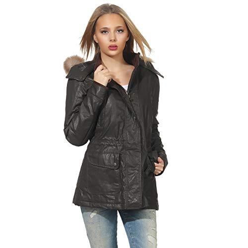 Matchless Damen Übergangs Wax Jacke Notting Hill Black 120006 ((40) XS)