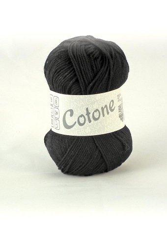 Lana Grossa Cotone 021 schwarz 50g Wolle
