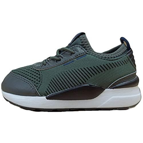 PUMA RS-0 Basis AC - Zapatillas deportivas de encaje elástico suave para niños, color Gris, talla 20 EU