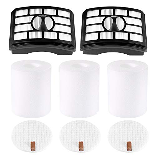 isinlive 2 + 3 Pack Vacuum Filters Compatible with Shark Rotator Professional Lift-Away NV500, NV501, NV502, NV503, NV505, NV510, NV520, NV550, NV552, UV560, Replace Part # Xff500 Xhf500