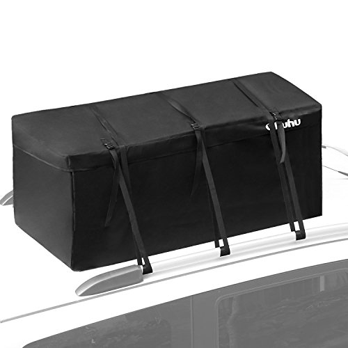 Cargo Bag, Ohuhu 15 Cubic Feet Waterproof Cargo Carrier, Expandable Hitch Tray Roof Top Cargo Bag, Fire Resistant