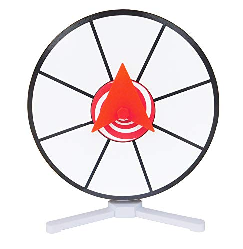 """Prize Wheel 12"""" White Dry Erase Face Spinner for Table Top"""