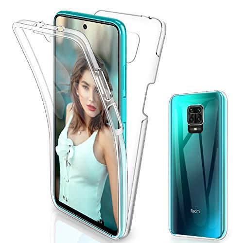 Gnews für Xiaomi Redmi Note 9S Hülle, für Xiaomi Redmi Note 9 Pro Hülle 360 Grad Full Body Front Und Rückenschutz Handyhülle Transparent Schutzhülle Durchsichtige Bumper für Xiaomi Redmi Note 9 Pro